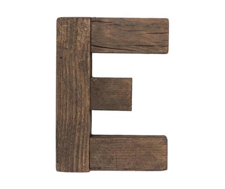 Decoratiune Letter E Dark Wood