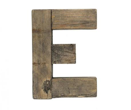Decoratiune Letter E Brown Wood