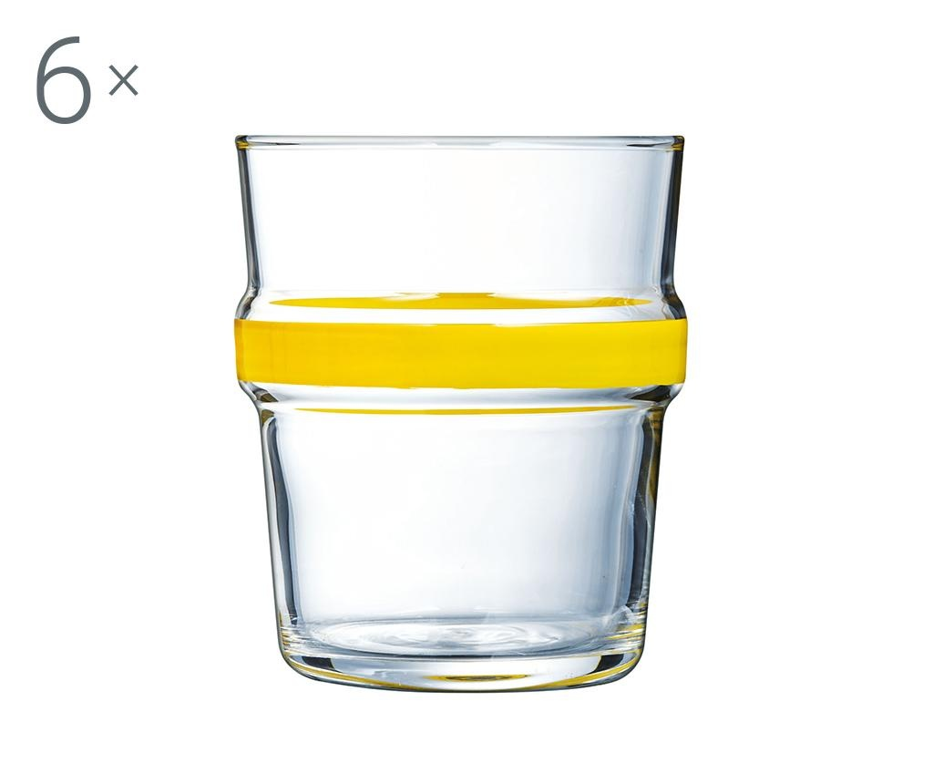 Set 6 kozarcev Cadence Yellow 270 ml