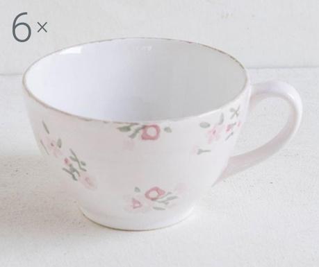 Set 6 cesti Melody Flowers Pink