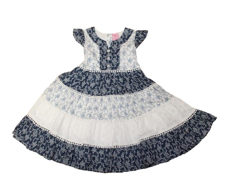 Otroška obleka Floral Layers 5-6 let