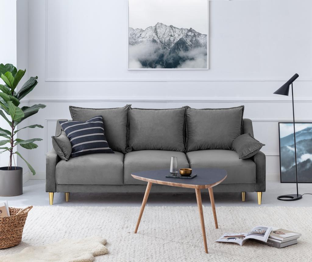 Canapea extensibila 3 locuri Pansy Light Grey