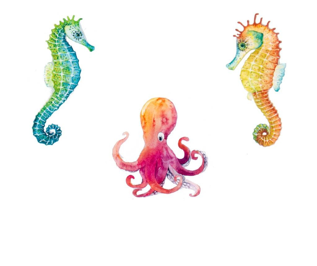 Set 30 semne pentru carte Stikki Marks Under the Sea