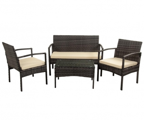 Set mobilier pentru exterior 4 piese Maggs