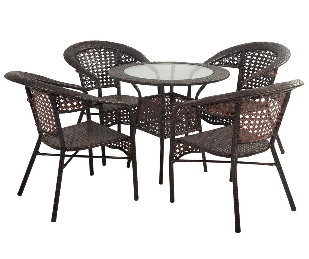 Elice Kültéri asztal és 4 db szék
