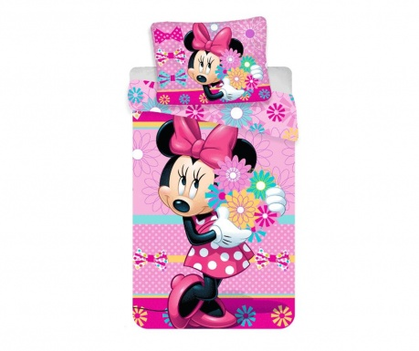 Спален комплект Single Minnie bows and flowers