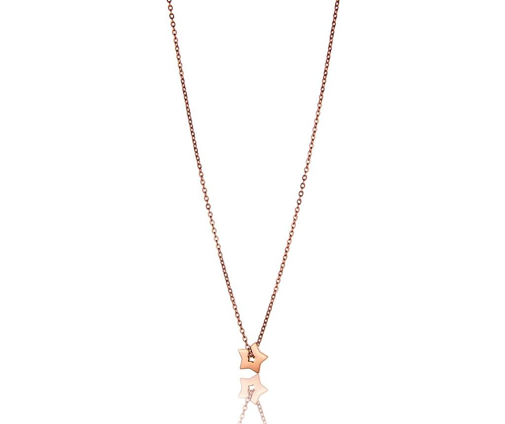 Set lantisor si bratara Rose Gold Star