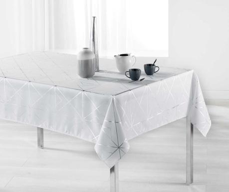 Fata de masa Quadris White and Silver 150x300 cm
