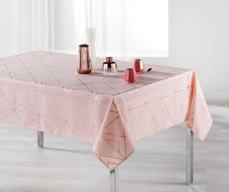 Fata de masa Quadris Pink and Rose Gold 150x300 cm