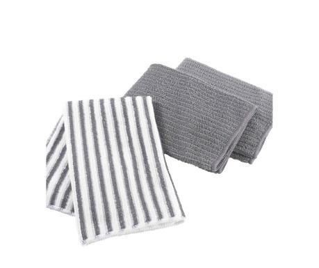 Комплект 3 кухненски кърпи Cuistot Anthracite 40x40 см