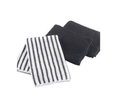 Комплект 3 кухненски кърпи Cuistot Black 40x40 см
