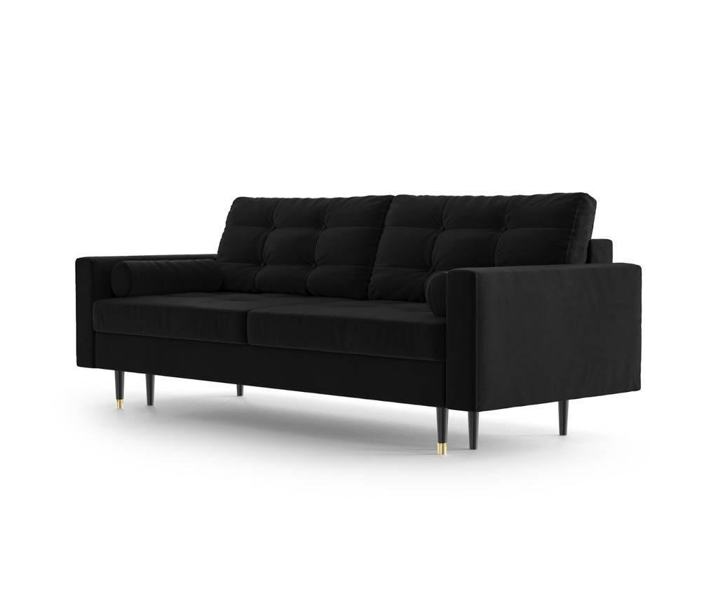 Canapea extensibila 3 locuri Aldo Black