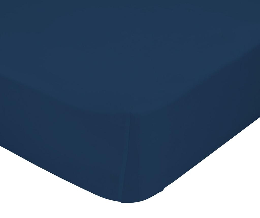 Plahta s elastičnom gumicom Basic Navy 90x200 cm