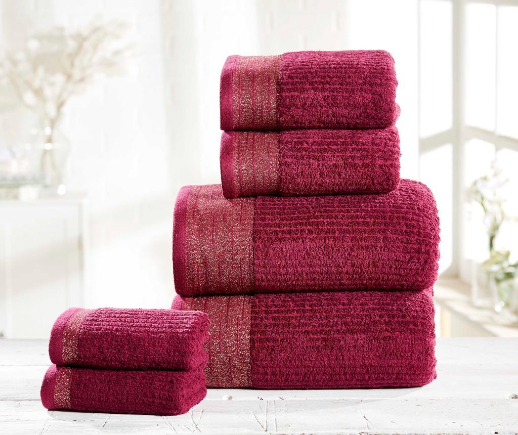 Set 6 kupaonska ručnika Mayfair Damson