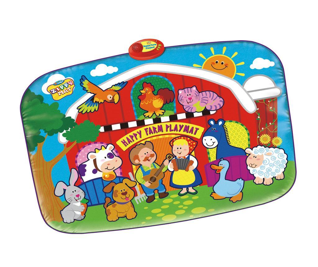 Glasbena podloga z aktivnostmi Happy Farm 72x95 cm