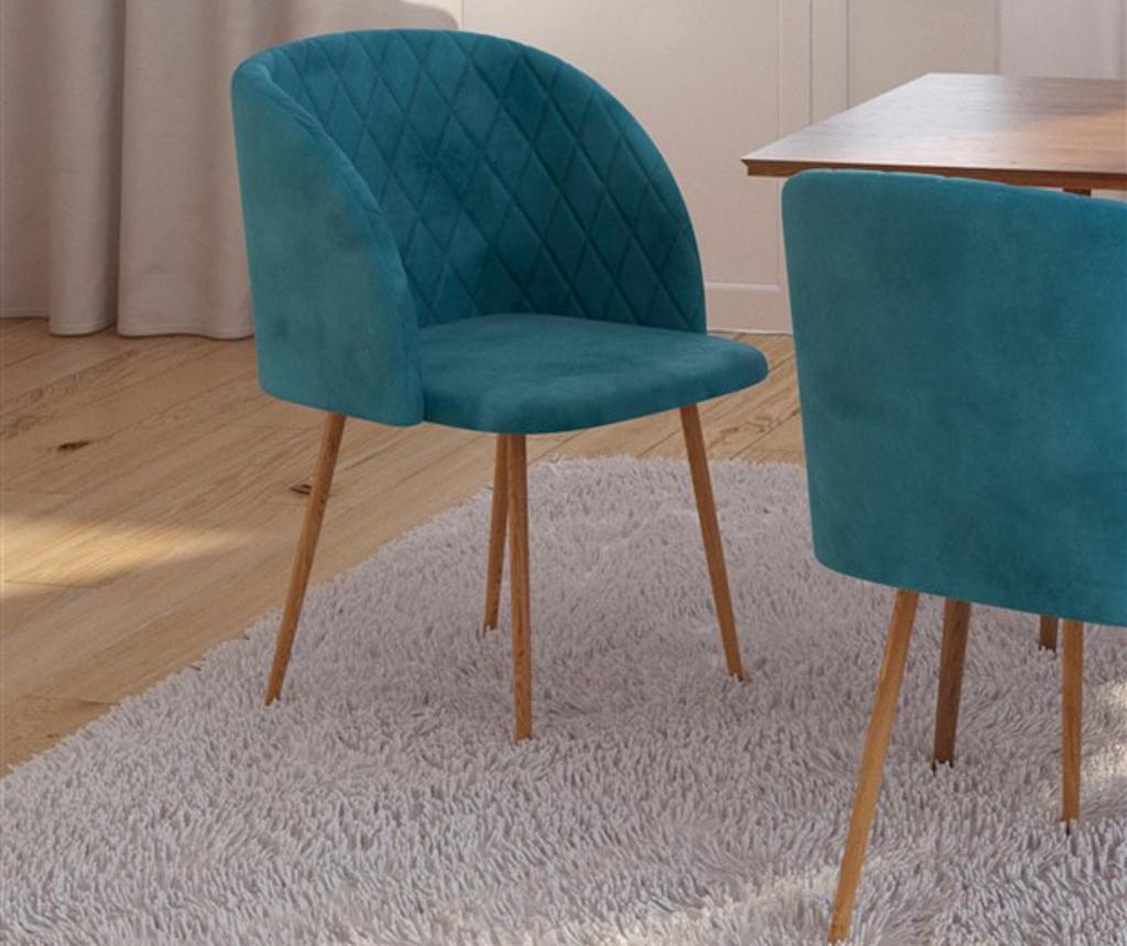 Stolica Makro Blue Velvet