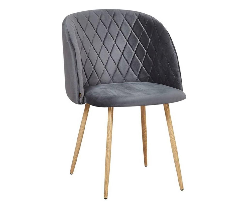Stol Makro Dark Grey Velvet