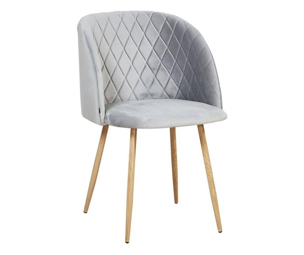 Stolica Makro Grey Velvet