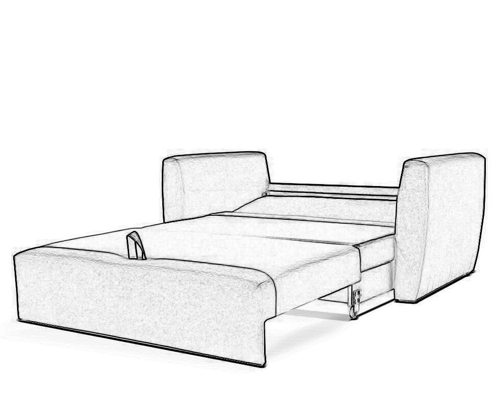 Canapea extensibila cu 2 locuri Bella Beige