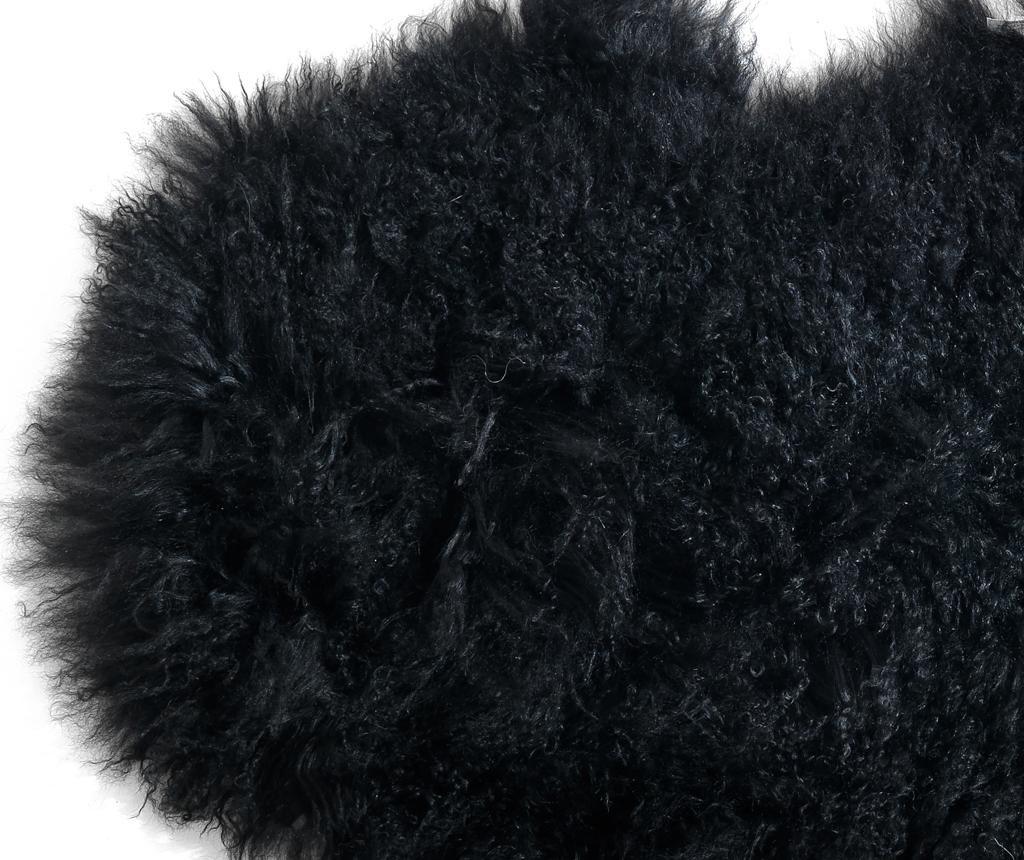 Черга Fur Black 50x90 см