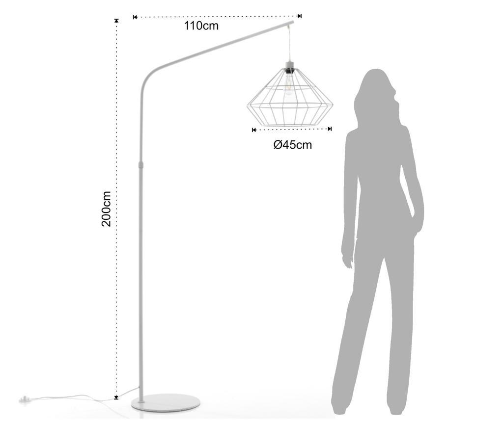 Лампа за под Diamond White