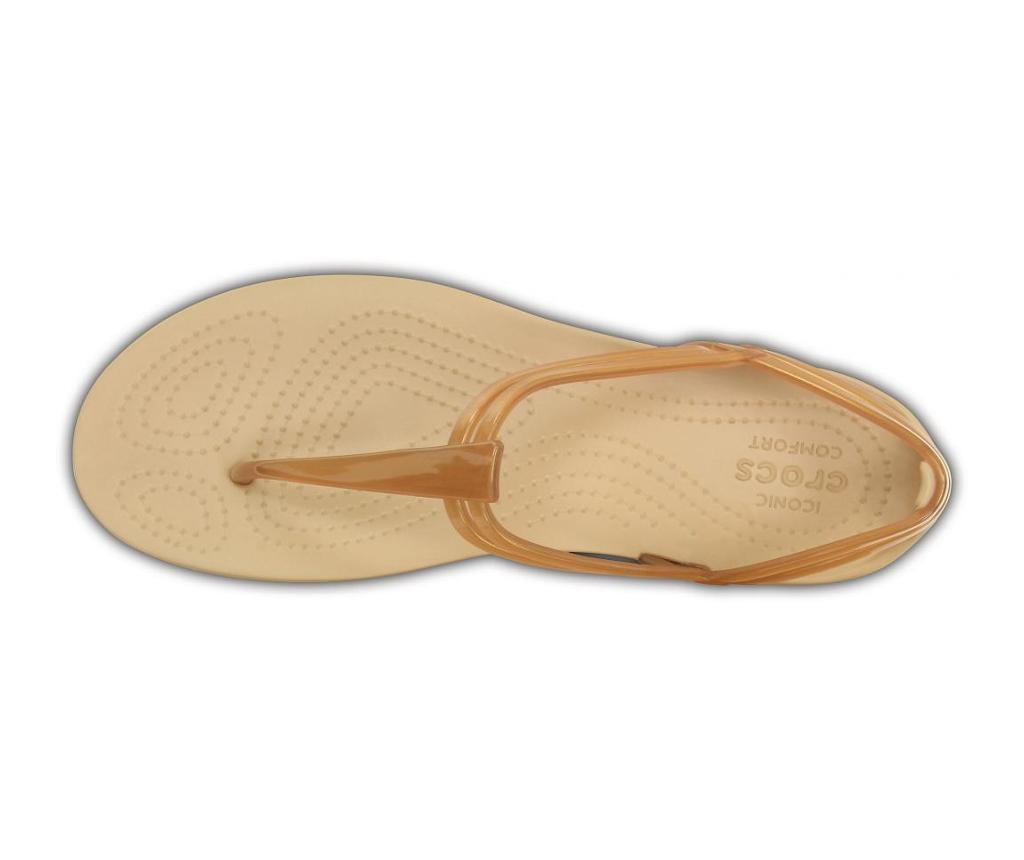 Ženski sandali Crocs Isabella T-strap Golden 34-35