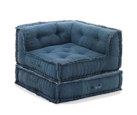 Sada podlahový polštář a sedací puf Picas Blueish