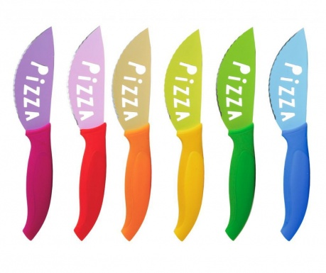 Sada 6 nožov na pizzu Anna