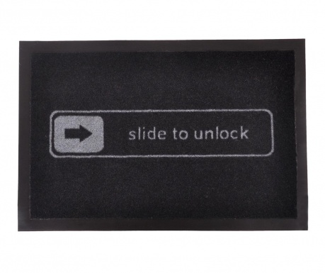 Covoras de intrare Printy Side Black Grey 40x60 cm