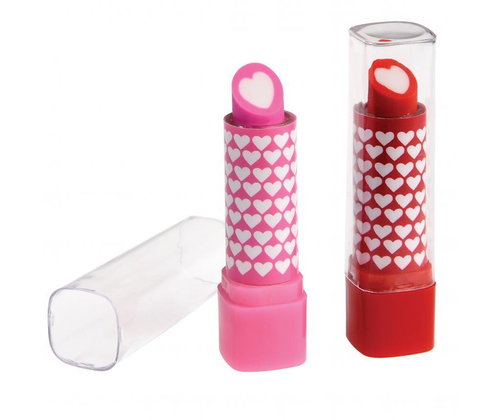 Set 2 gume de sters Lipstick