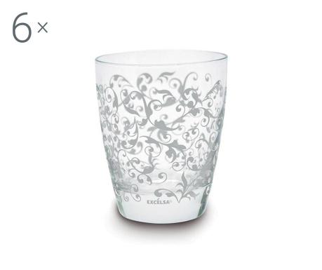 Set 6 čaša Domus White 300 ml