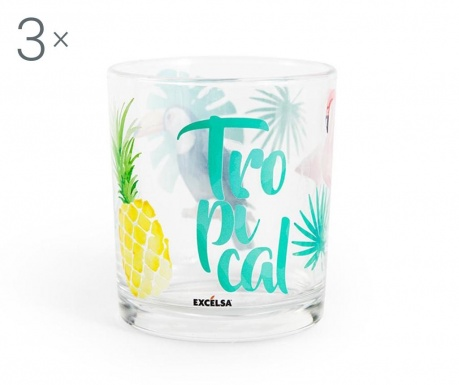 Sada 3 pohárov Tropical 250 ml