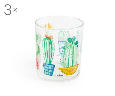 Sada 3 pohárov Cactus 250 ml