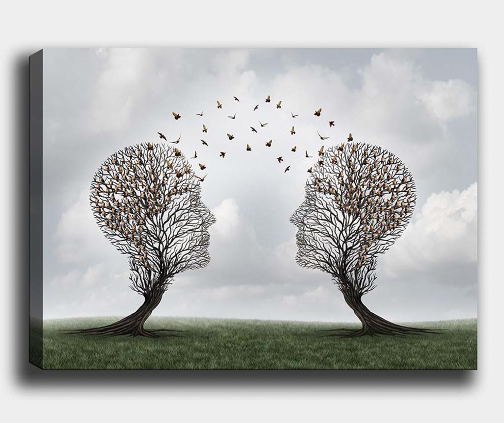 Tablou Tree-Bird 50x70 cm