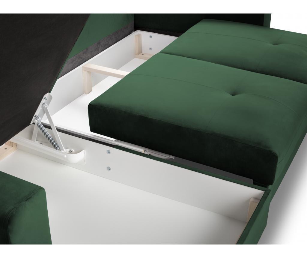 Andante Green Megfordítható és kihúzható sarokkanapé