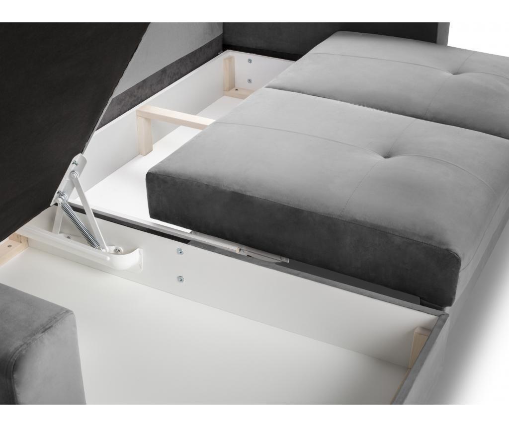 Andante Light Grey Megfordítható és kihúzható sarokkanapé