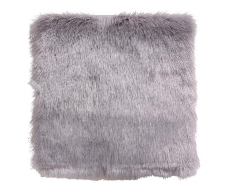 Umetna jagnječja koža Heather Light Grey 40x40 cm