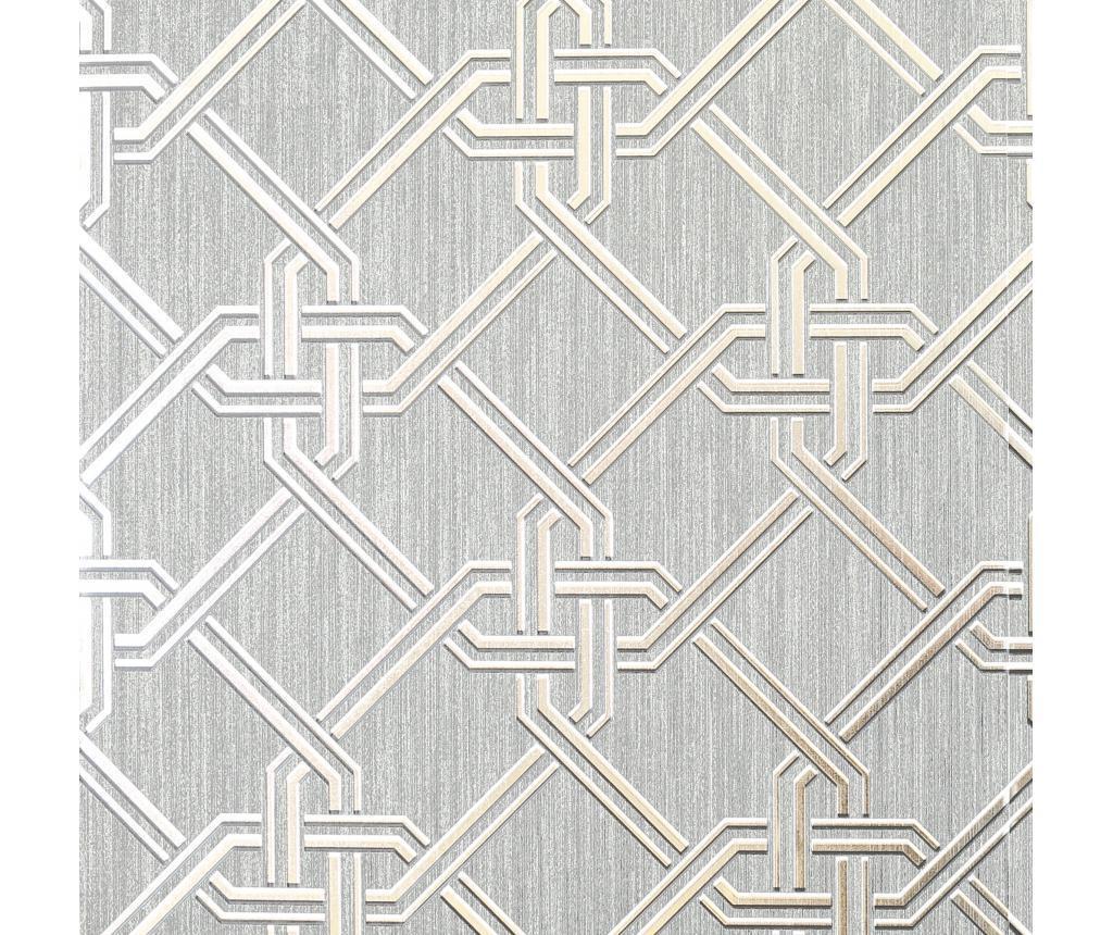 Tapeta Gianni Foil Silver 53x1005 cm