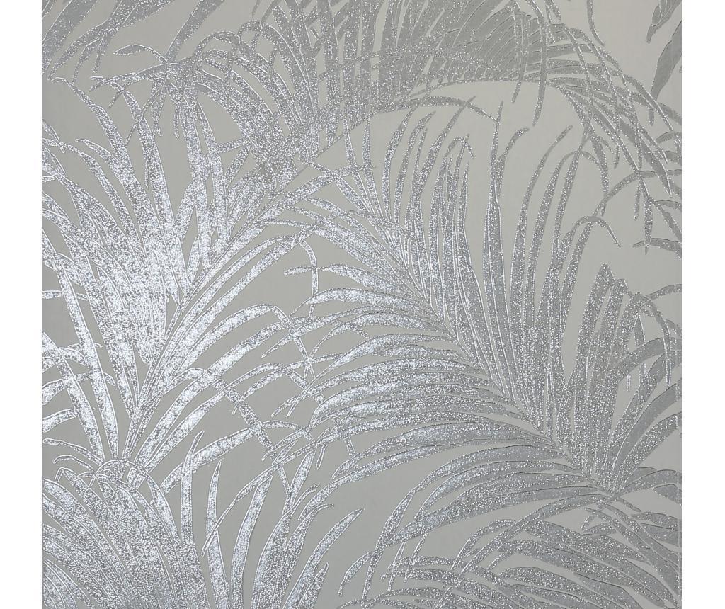 Tapeta Palm Silver Grey Kiss Foil 53x1005 cm