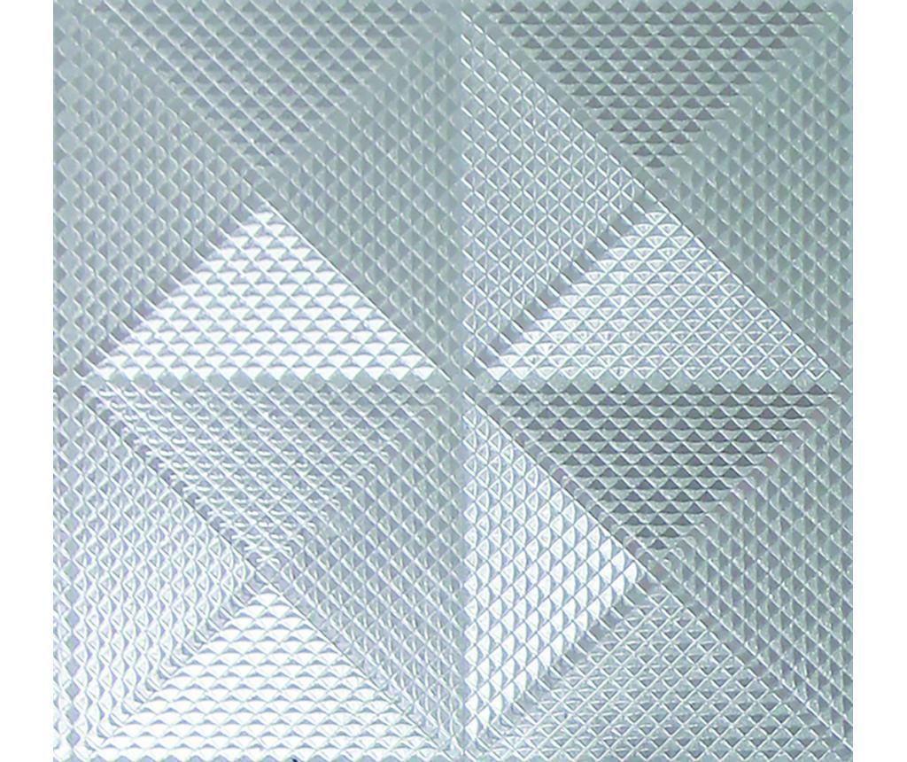 Tapeta Geo Diamond Foil Silver 53x1005 cm