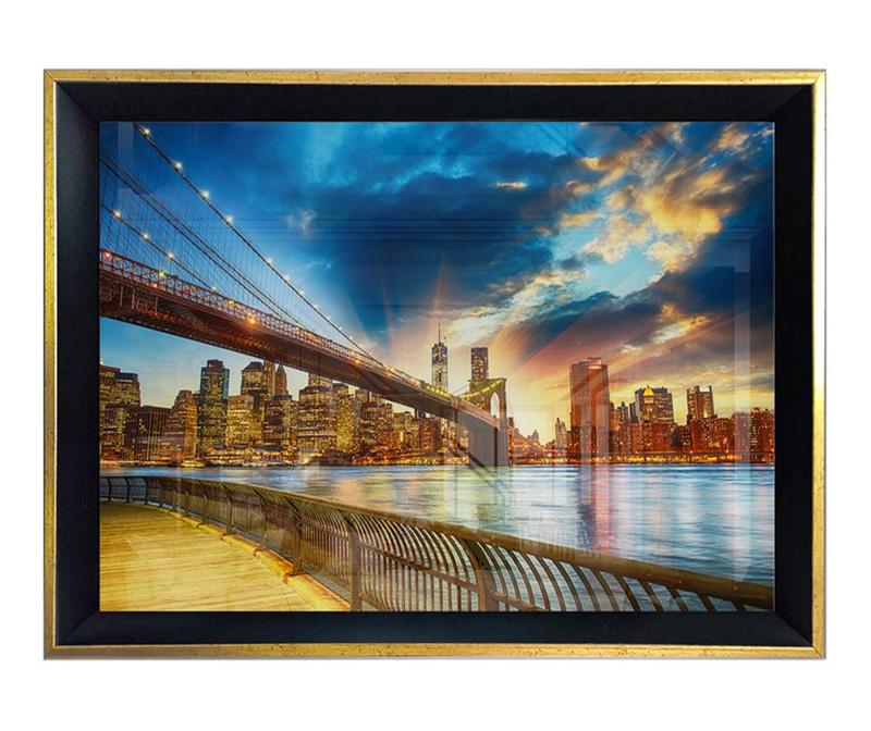 Tablou Bridge & Sunset 45x65 cm