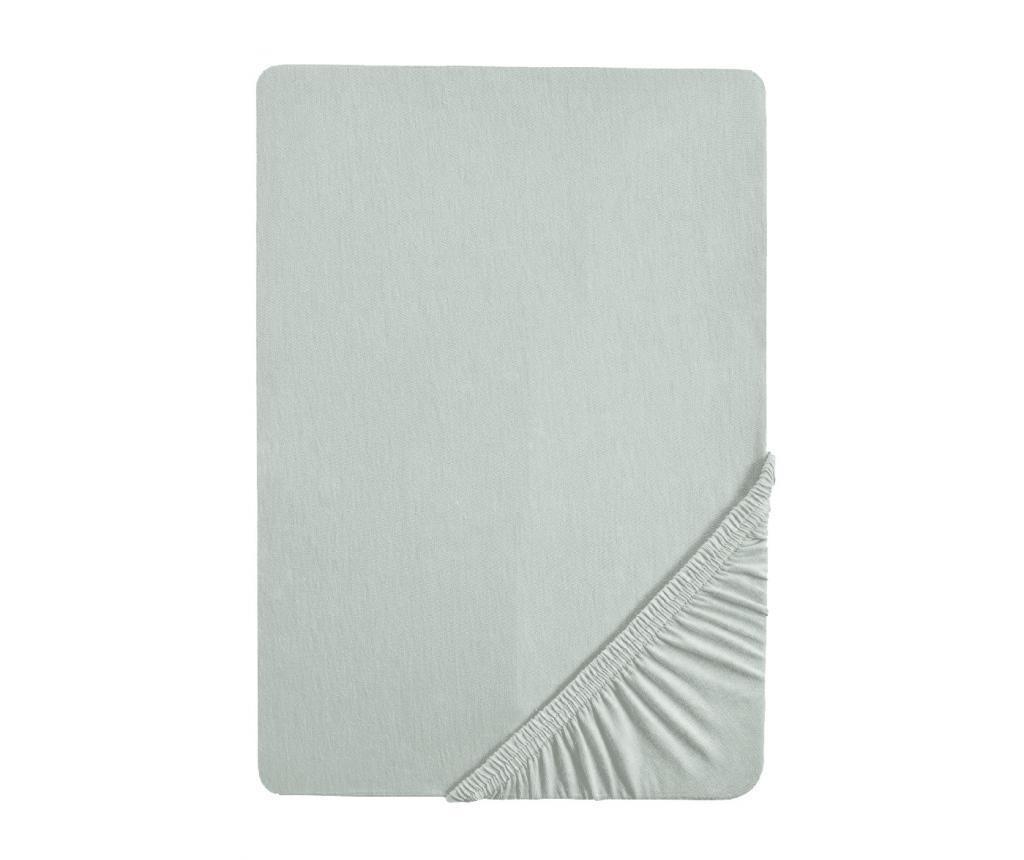 Cearsaf de pat cu elastic Single Grey 100x200 cm