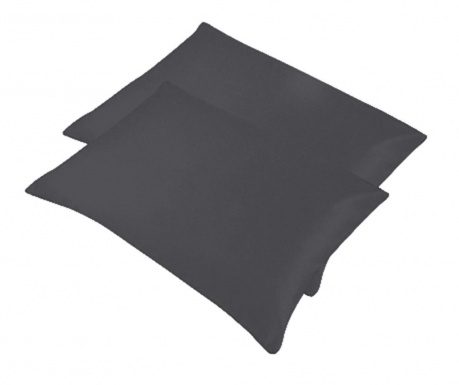 Set 2 jastučnice Bogo Dark Grey 50x70 cm