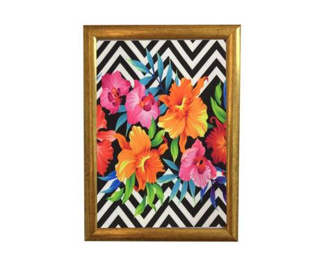 Πίνακας Flower Zigzag 23.5x33.5 cm