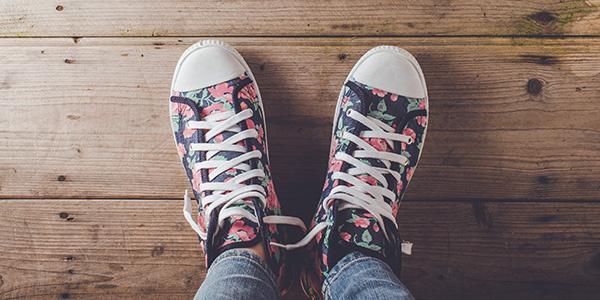 Farebná obuv
