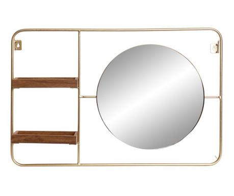 Półka ścienna z lustrem