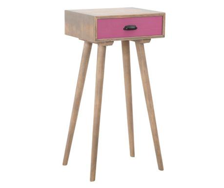 Масичка с 1 чекмедже Ibiza Pink Tall