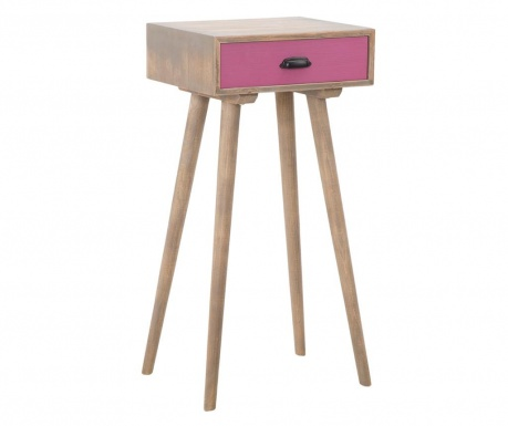 Stolić sa 1 ladicom Ibiza Pink Tall