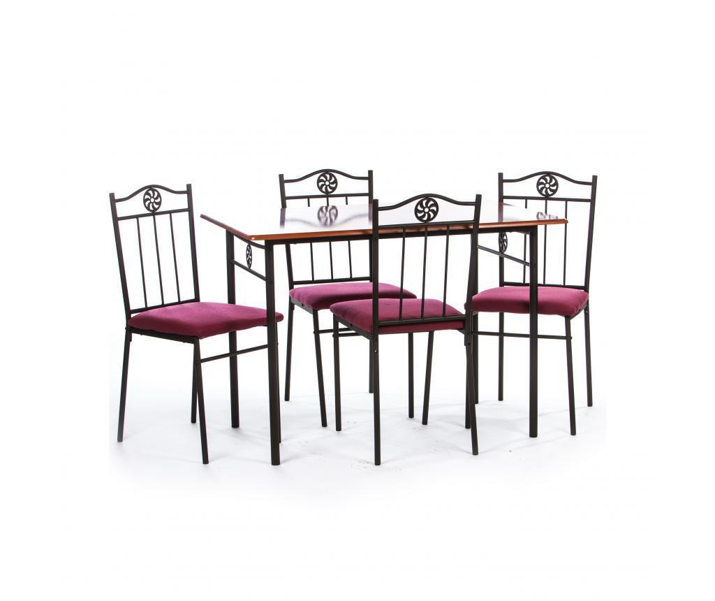 Set stol i 4 stolice za vanjski prostor Victory Red