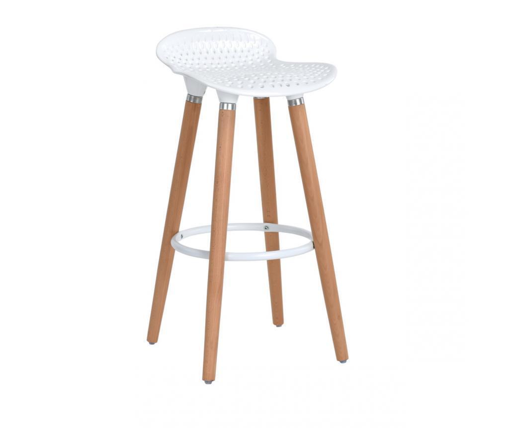 Set 2 barske stolice Bonito White